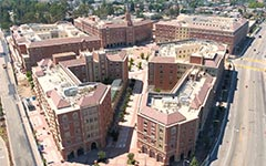 Aerial of USC Village