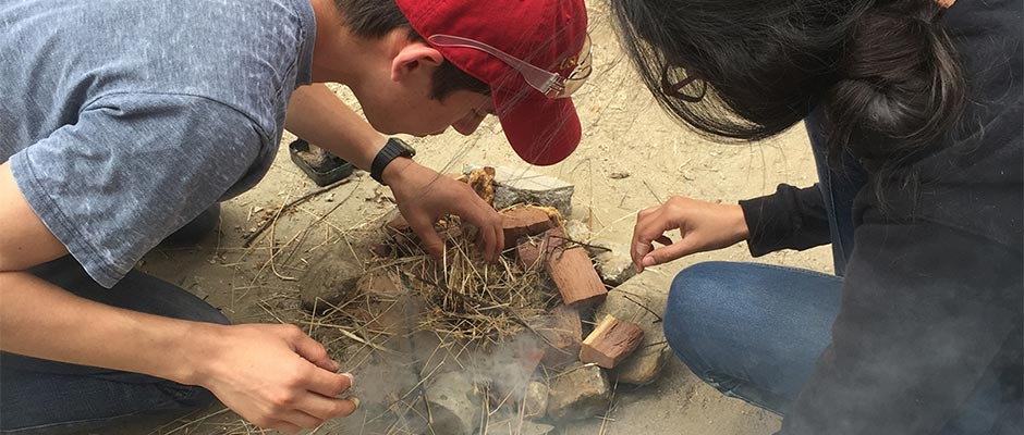 "USC Dornsife's Maymester course ""Ancient Ways of Living: Experimental Archaeology"""