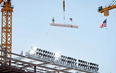Coliseum topping-off ceremony
