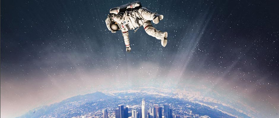 Illustration: Astronaut over Los Angeles