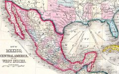 Historical map of Mexico